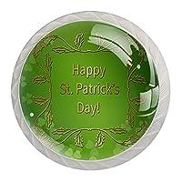 引き出しハンドルは装飾的なキャビネットのノブを引っ張る ドレッサー引き出しハンドル4個,明るい緑色