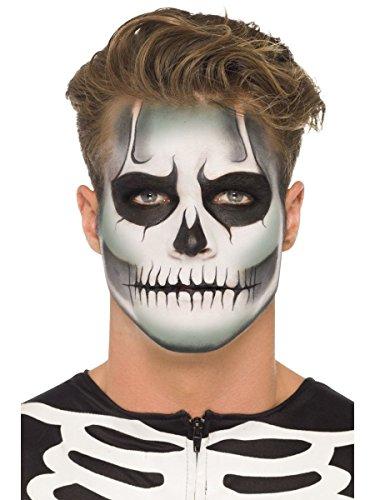 Smiffys Schminke Set Halloween Skelett Totenkopf Schädel nachtleuchtend