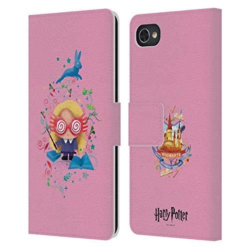Head Hülle Designs Offizielle Harry Potter Luna Lovegood Deathly Hallows II Leder Brieftaschen Huelle kompatibel mit BlackBerry Motion