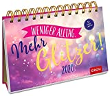 Weniger Alltag. Mehr Glitzer! 2020: Postkarten-Kalender mit separatem Wochenkalendarium - Groh Redaktionsteam