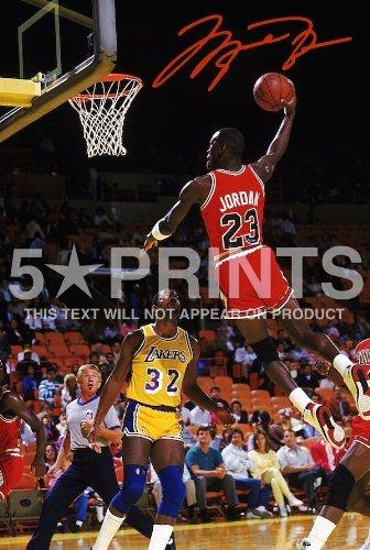 Michael Jordan NBA Chicago Bulls - Poster con foto in PP autografata, 30,5 x 20,3 cm