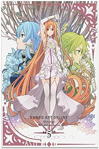 JSYEOP Póster de anime con espada en línea, 20 x 30 cm