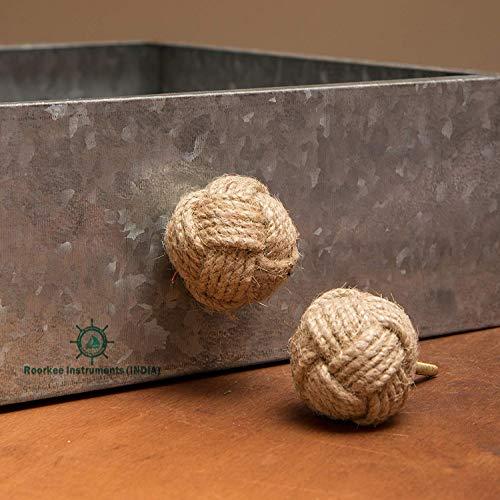 Roorkee Instruments India - Juego de 12 pomos de cuerda de yute para armarios, armarios y armarios, decoración de hardware náutico