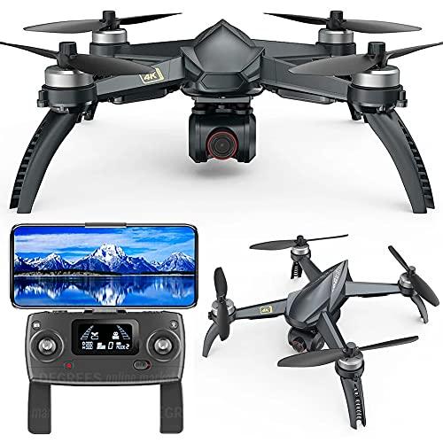 MAFANG® Drone con Camara HD, 4K Sin Escobillas Drones con Camara Profesional Estabilizador GPS, Duración De La Batería 20 Minutos, Posicionamiento De Flujo Óptico, Control Remoto De Pantalla LED