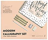 Modern Calligraphy Set for Beginners: A Creative Craft Kit for Adults Featuring Hand Lettering 101 Book, Brush Pens, Calligraphy Pens, and More