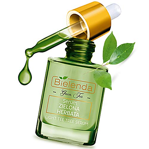 Bielenda Green Tea - Anti-Blackhead Anti-Acne And Skin Renewal Effect Reduce Visibility Of Pores Regulates The Secretion Of Sebum Makes Pores Appear Smaller-Green Tea Face Serum - 15 ml