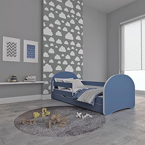 MEBLEX - Letto per bambini con materasso in schiuma di sicurezza, 160 x 80 cm, colore: Bianco