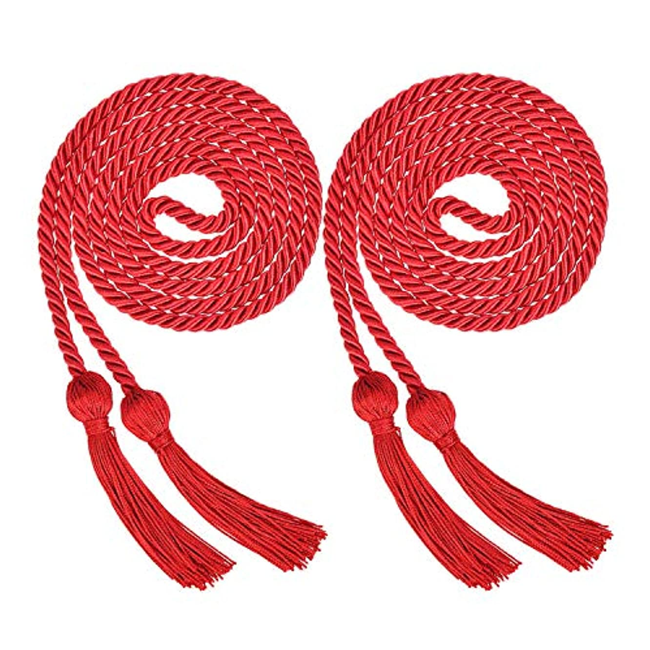 ECONIE Graduation Honor Cords Polyester Yarn Graduation Tassel Accessory for High School College Graduation Bachelor Gown (red)