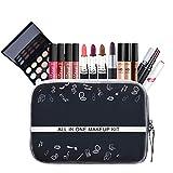 BHUJYG Makeup Set Ligstick Lip Gloss Eyeliner Mascara Foundation Powder Nail Polish Long Lasting Waterproof Eyeshadow Eyebrow