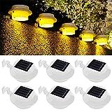 Lot de 6 lampes solaires d'extérieur LED pour gouttière, jardin, cour, lampe de sécurité étanche [Classe énergétique A+++] Blanc pur