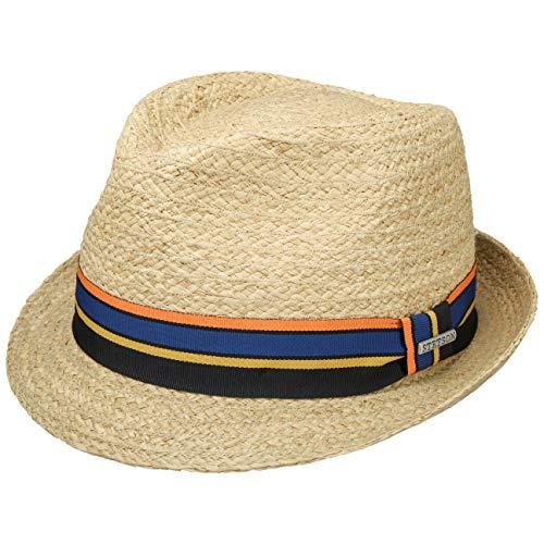 Stetson Cantalo Trilby Raffiahut strohoed strohoed strotruilby zomerhoed zonnehoed strandhoed dames/heren - met ripsband lente zomer