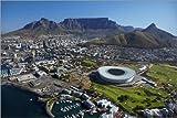 Poster 130 x 90 cm: Kapstadtstadion und Tafelberg von David