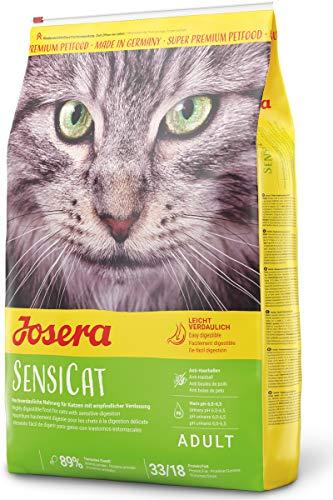 JOSERA SensiCat, Katzenfutter mit extra verträglicher Rezeptur, Super Premium Trockenfutter für ausgewachsene und emfpindliche Katzen, 1er Pack (1 x 10 kg)
