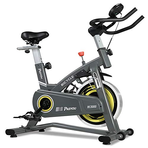 PASYOU Belt Drive Indoor Cycling Bike Stationary Cycle Bike, Exercise Bike with Magnetic Resistance for Home Cardio Workout Bike Training belt Bikes Exercise flywheel indoor magnetic quiet