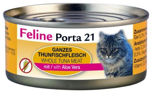 Feline Porta Katzenfutter Feline Porta 21 Thunfisch plus Aloe 156 g, 6er Pack (6 x 156 g)