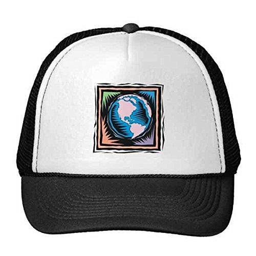 DIYthinker Élément mystérieux de la Terre culturelle Mexicaine Antique Gravure Trucker Chapeau de Maille de Nylon Chapeau réglable Cap Bleu Adulte