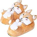 corimori 1847 - (Plusieurs Modèles) Shiba Inu 'Akito' Chaussons Avec Tête D'Animal, Pantoufles...
