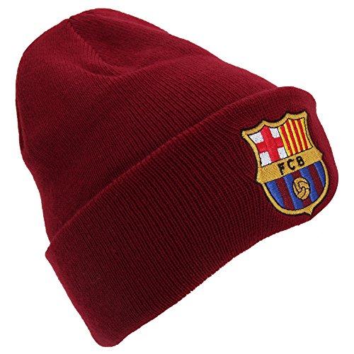 Bonnet de foot avec revers FC Barcelone rouge ou bleu - Roug