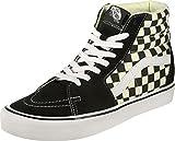 Vans Black/White Checkerboard SK8-Hi Lite Trainers-UK 5