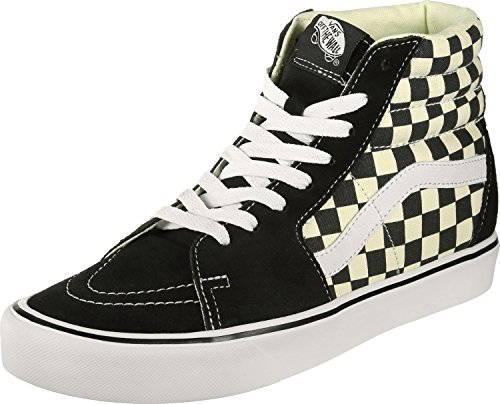 Vans Black/White Checkerboard SK8-Hi Lite Trainers-UK 4