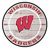 YOMIA Team Signs for Wisconsin Badgers Metal Signs Garage Decor for Men 30x30cm