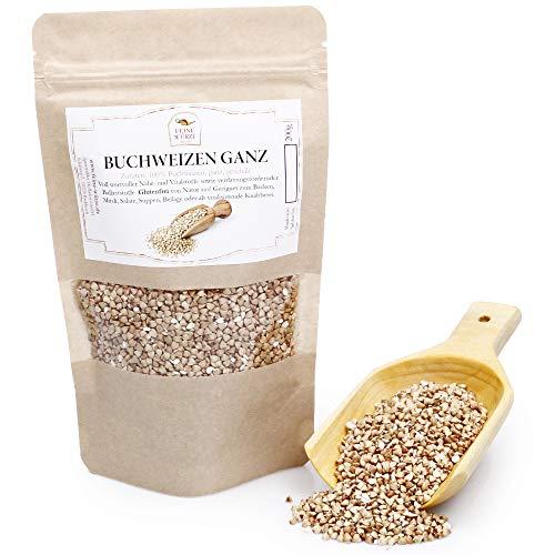 Buchweizen ganz, geschält | Backzutaten | zum Kochen und Backen | Brotgewürz | vegan & glutenfrei | buckwheat | 200g