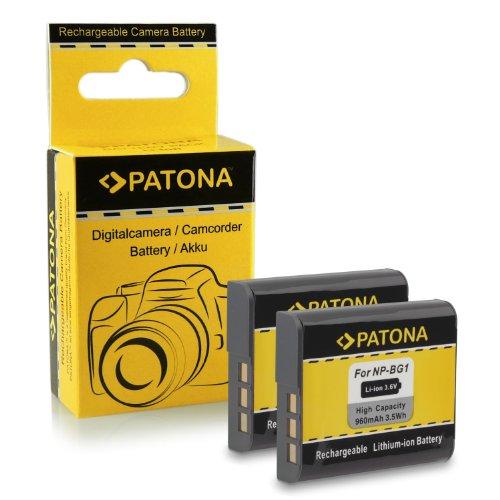 2x Akku / Batterie NP-BG1 für Sony CyberShot DSC-H3   DSC-H7   DSC-H9   DSC-H10   DS...
