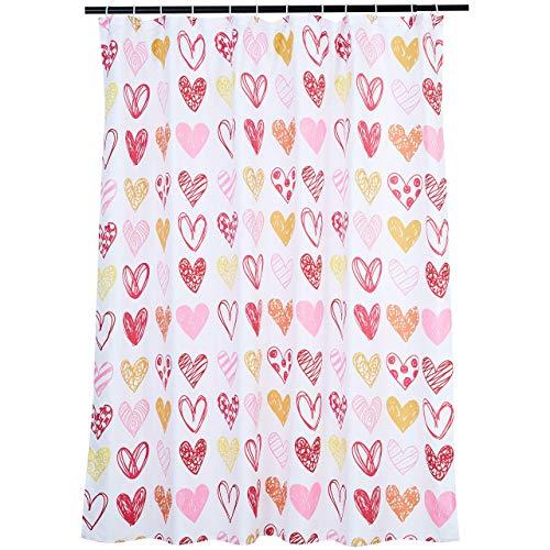 Amazon Basics Bathroom Shower Curtain - Sweetheart, 72 Inch