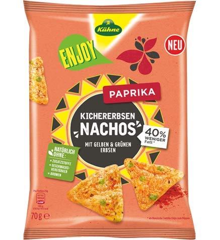Kühne Enjoy Kichererbsen-Nachos Paprika, 70 g