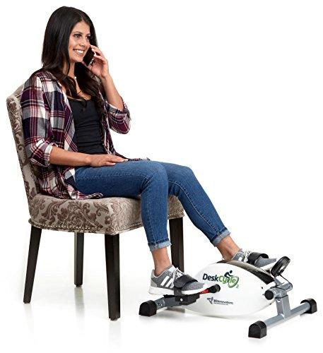 DeskCycle2 Nouveau Réglable en Hauteur, comme Notre Populaire DeskCycle, Un Mini vélo d'exercice de qualité supérieure à Profil Bas pour Un Travail revigorant, Lisse, résistance magnétique