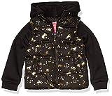 Pink Platinum Girls' Midweight Vest 2Fer Jacket, Black, 4