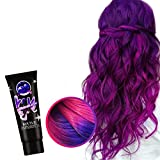 Thermo-sensing Color Changing Wonder Hair Dye Cream,4 Different Thermochromic Color -changing Hair Dyes, Semi Permanent Paint for Hair Styling Tools Purple