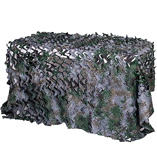 Tela Camuflaje Sombra - Malla Camuflaje Jardin Tienda De Camuflaje Para Observación De Aves Camo Netting Camo De Tela De Oxford Camuflaje Digital Malla Para Sombrilla Decoració(Size:5×10m/16.4×32.8ft)