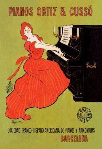 Pianos Ortiz y Cusso–Barcelona 12x 18Giclee sobre lienzo by Buyenlarge