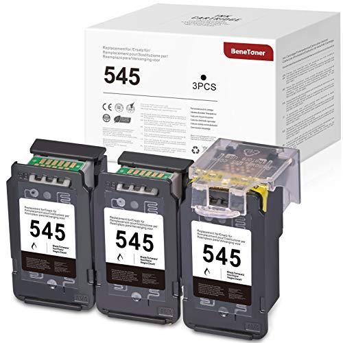 BeneToner 545XL Cartuchos de tinta compatibles para impresora Canon 545XL PIXMA MX495 TS3150 MG2450 MG2550 MG2550S MG2950 MG3050 TS205 TS305 iP2850 (3 unidades), color negro