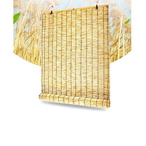 Fvfk Rollladen-Lamellenrollos, Bambusjalousien, SichtschutzvorhäNge - Sonnenschutz - Beschattung, Terrasse - Garten - AußEn - Dekorwand