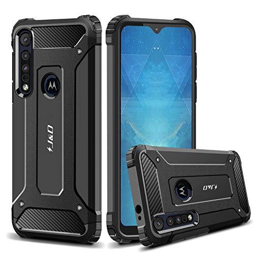 JundD Kompatibel für Motorola One Macro Hülle/Motorola G8 Play Hülle, [ArmorBox] [Doppelschicht] [Heavy-Duty-Schutz] Hybrid Stoßfest Schutzhülle für Moto One Macro, Moto G8 Play Handyhülle - Schwarz