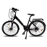 URBANBIKER Vélo électrique Ville Mod. Sidney, Batterie Lithium ION 504 Wh (14 Ah 36 V), Freins hydrauliques Shimano Couleur Noir 28 Pouces.