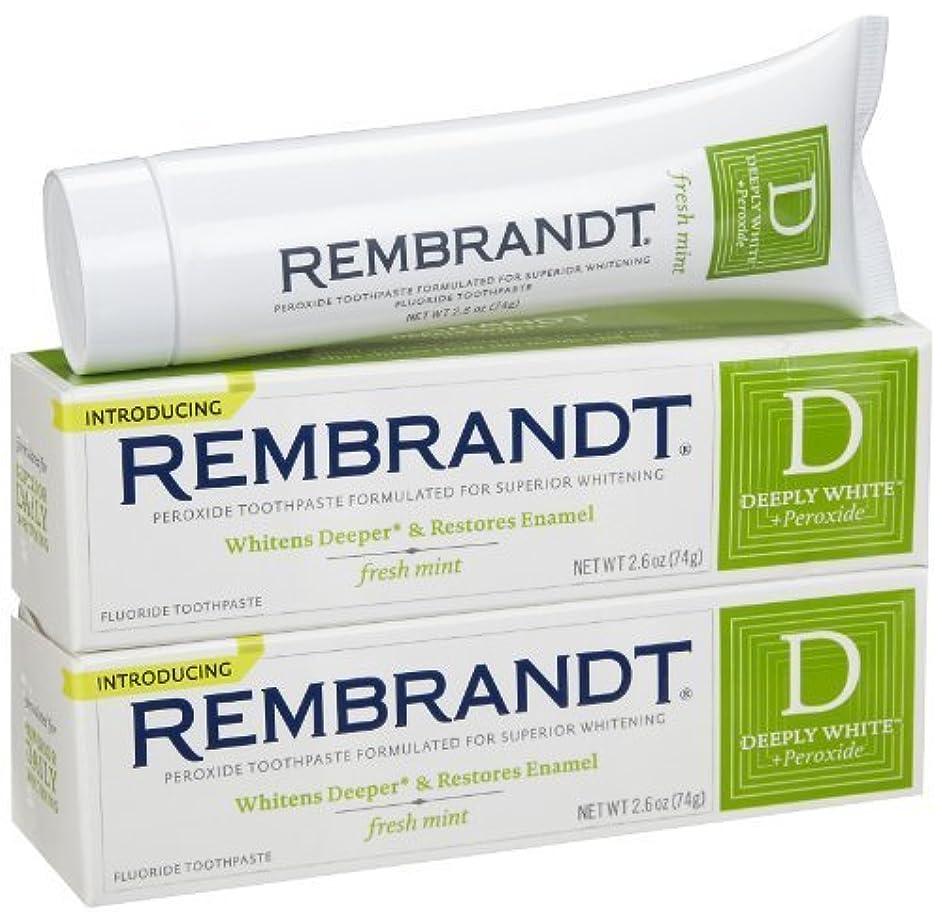 要求作り上げる電話するRembrandt Fluoride Toothpaste, Mint - 2.6 oz - 2 pk [並行輸入品]