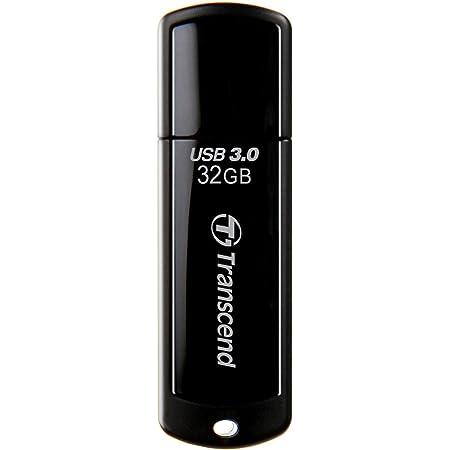 Transcend USBメモリ 32GB USB 3.0 キャップ式 ブラック (無期限保証) TS32GJF700E (FFP)【Amazon.co.jp限定】