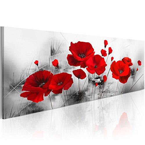 murando Quadro 120x40 cm 1 pezzo Stampa su tela in TNT XXL Immagini moderni Murale Fotografia Grafica Decorazione da parete Fiori Papavero b-A-0339-b-a