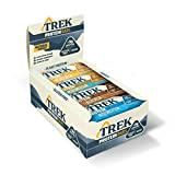 Trek Protein Flapjack Mixed Case - Natural Plant Protein - Gluten...