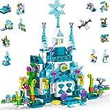 Yetech Stem Juguetes de construcción para niños,Castillo de la Princesa de Cristal Azul Set de Construcción de Juguete ,12 en 1 de ingeniería Creativa,DIY Regalos Ideal para niñas de 6 -12 años