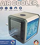 Personal Air Cooler, Portable Mini Air Conditioner, 3 in 1 Evaporative Coolers, Humidifier, Purifier with USB, 3 Speeds Desktop Cooling Fan for Office, Home, Dorm, Travel