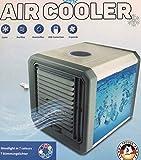 Aire Acondicionado Portátil, 4 en 1 Ventilador Aire Acondicionado, Humidificador y Purificador, Air Cooler Fan con Mango, 3...