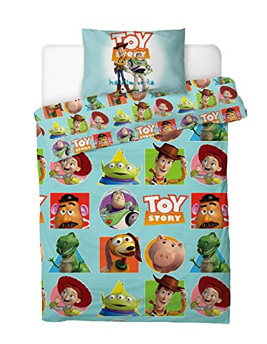 Disney Toy Story Patch Duvet Cover Reversible Bed Set, Blue, Single