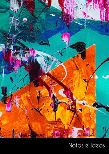 Notas e Ideas: Cuaderno / libro de dibujo grande abstracto pintura antecedentes vistoso arte | tamaño A4, libreta blanca. Sostenible y neutral al clima.
