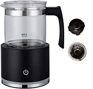 Milk Frother, Automatic Detachable, Electric Milk Steamer Foam Maker with Glass Jug for any kind of coffee, automatic milk...