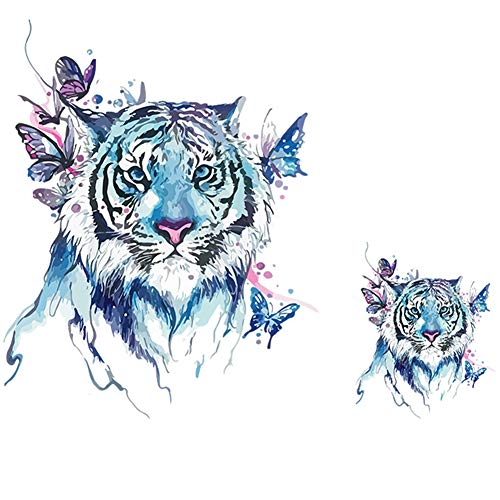 2Pcs Animal Tiger Zebra Lion Fox Horse Elephant Iron on Heat Transfer A-Level Washable Patches Stickers for T-Shirts Jeans Coats DIY Accessory 4