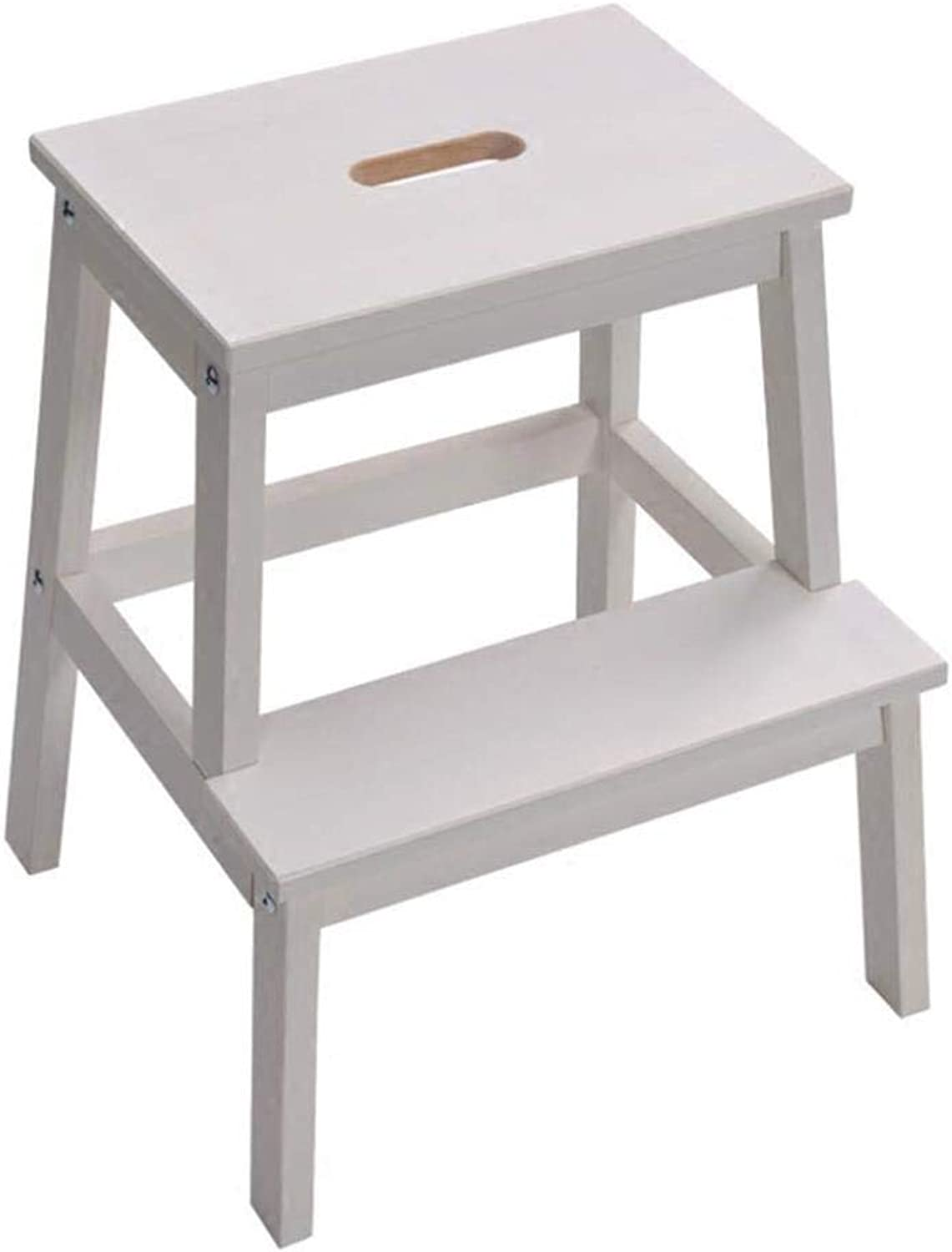 Step Stool Folding- Solid Wood Step Stool Step Stool Home Change shoes Bench Step Stool High Stool 43x39x50cm ZXMDMZ (color   Wood color)
